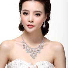 Bộ trang sức cô dâu đính đá pha lê giọt nước cao cấp RS03