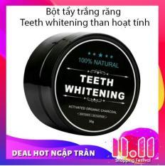 Bột tẩy trắng răng Teeth whitening than hoạt tính cao cấp chống mùi hôi răng miệng cũng như giúp răng chắc khỏe