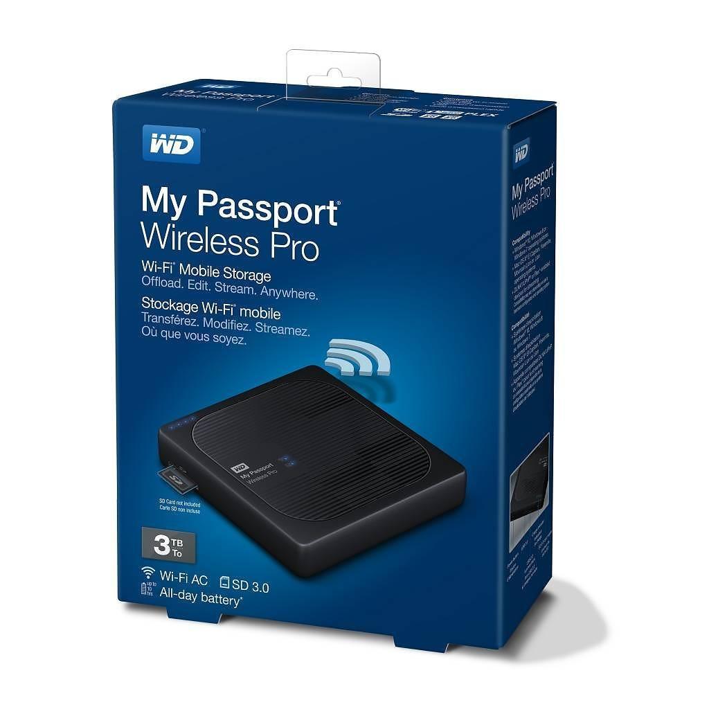 So sánh giá Ổ cứng WD My Passport Wireless Pro – 3TB Tại TT Computer
