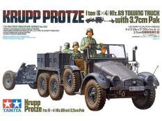 Mô hình lắp ráp Tamiya 1/35 Krupp Protze 1 ton (6X4) Kfz.69 Towing Truck With 3.7cm Pak