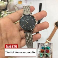 [RẺ ĐỪNG HỎI] Đồng hồ nữ GUOU 2 kim chạy dây thép nhuyễn sang trọng G43-71-TẶNG NGAY KÍNH TRÁNG GƯƠNG SANG TRỌNG