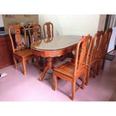 Bộ bàn ghế phòng ăn – gỗ hương vân