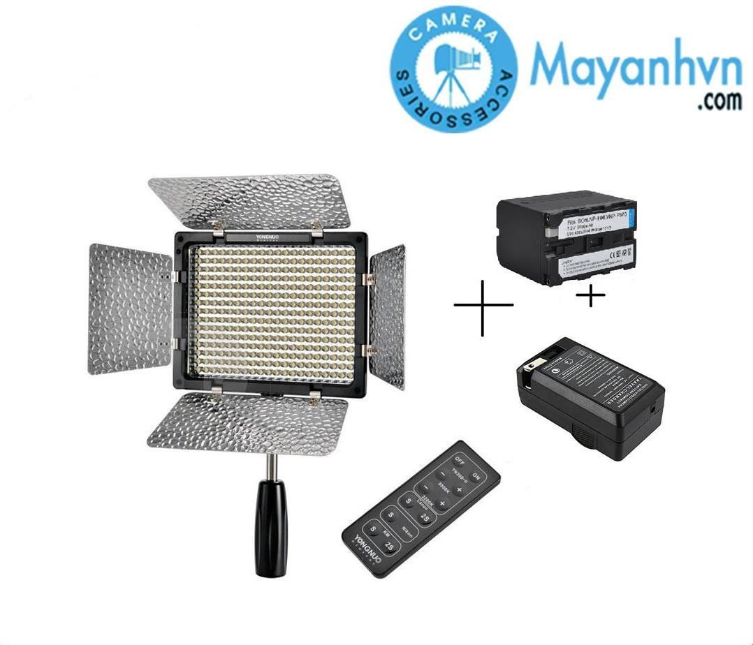 Đèn LED hỗ trợ chụp ảnh YONGNUO YN 300 II Bảo hành 12 tháng kèm pin sạc