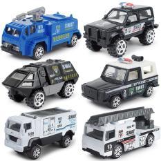 Bộ mô hình Cảnh sát mini tỉ lệ 1:87 so với kích thước thật (Chất liệu Hợp kim + nhựa)
