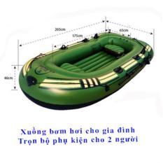 Mua Phao Bơi Khổng Lồ, Thuyền Bơm Hơi Cao Cấp- Thuyền Phao Cho 2 Người Tặng Bộ 5 Phụ Kiện Chất Liệu Cao Su Dày Độ Bền Cao