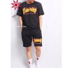 SET quần áo thể thao nam nữ LỬA CHÁY cotton Dry-Fit siêu ngầu DS2020