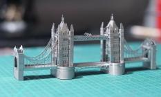 Mô hình kim loại lắp ghép lắp ráp trang trí trưng bày 3D Cầu londo bằng thép không gỉ (tặng dụng cụ lắp ghép khi mua 2 bộ bất kì)