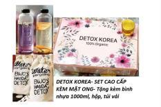 SET 20 Gói Trà Detox hoa quả sấy khô, DETOX KOREA – SET CAO CẤP KÈM MẬT ONG- Tặng kèm bình nhựa 1000ml, hộp, túi vải [CÓ ẢNH THẬT]