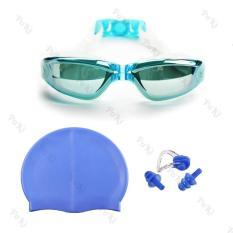 Bộ kính bơi 2360, Mũ bơi, Bịt tai kẹp mũi, đồ bơi thời trang cao cấp – POKI