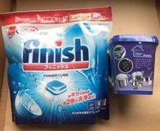 Tặng hộp Tẩy Đa Năng Khi Mua Viên Rửa Bát FINISH 150 viên ( nhật )tđ somat alio tích hợp bột muối bóng