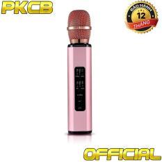 Micro karaoke kèm loa bluetooth nhập khẩu cao cấp PKCB BM06 có khe Cắm thẻ nhớ 3 trong 1