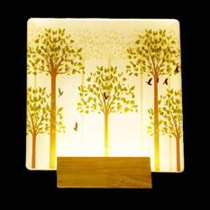 đèn hắt led vuông cây xanh