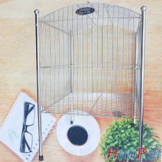 Lồng tắm chim lớn dành cho chim Khướu, Họa my, Chào mào, Chòe – Lồng tắm lớn 100% inox không gỉ sét (Hanpet longtam2) chuồng chim / lồng tắm họa my/ lồng tắm chào mào / lồng tắm chòe