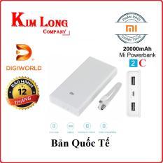 Pin sạc dự phòng Xiaomi 20000 mAh Gen 2c (QC 3.0 hai chiều) – Hãng phân phối chính thức
