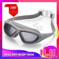 Kính bơi tầm nhìn rộng 180 độ, tráng gương, chống tia UV