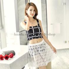 Bikini 2 Mảnh Váy Ren AT054 Hoa Lan