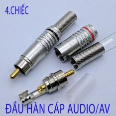 Bộ 4 Chiếc jack hàn cắm AV/Audio Video dùng cho dây loa loại to 6.0mm