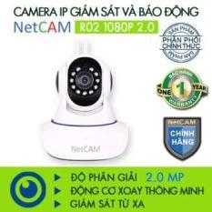 Camera IP WiFi giám sát và báo động Netcam R02 1080P 2.0 (Trắng)