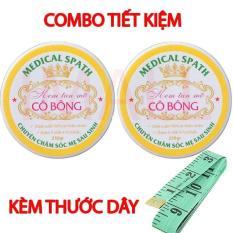 Bộ 2 hộp Kem tan mỡ Cô Bông (250g) giúp giảm mỡ bụng tặng thước dây