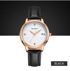 Đồng hồ nữ SANDA dây da mặt khảm hoa nghệ thuật IW-SD219