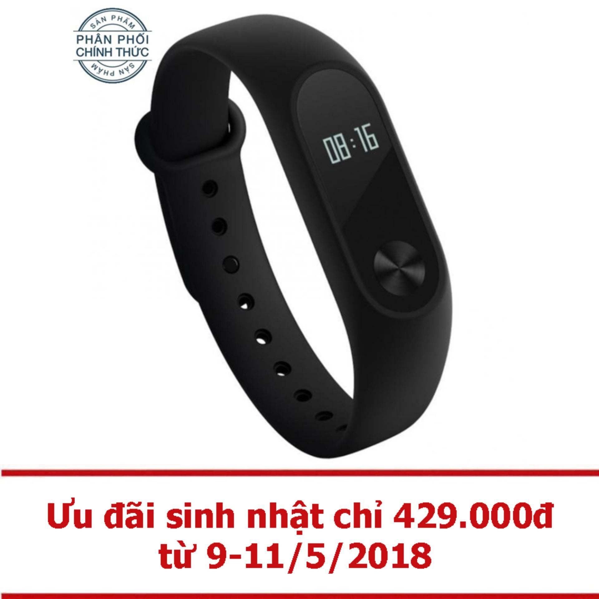 Vòng đeo tay Xiaomi Miband 2 (Đen) - Hãng phân phối chính thức.