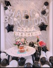Set bóng trang trí sinh nhật tông màu Black&White / Hello Baby
