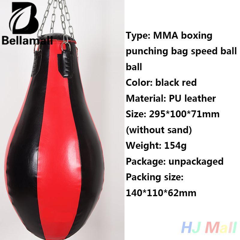 Bellamall:MMA Boxing Puch Leather Speed Bag Punching Sandbag Boxer Training Kickboxing - intl