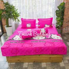 Bộ ga gối giường Cotton Poly Tmark (Mèo chấm bi)