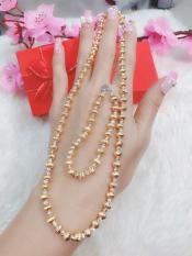 Bộ trang Sức 2 Món BI Vàng Bạch Kim Xen Kẽ Gadoshop VB2110801 – đeo đi làm công sở rất quý phái
