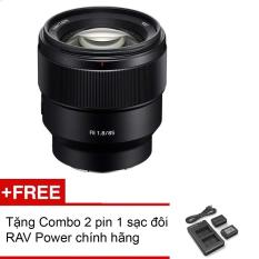 Ống kính máy ảnh Sony FE 85mm F1.8 – Tặng Combo 2 pin 1 sạc đôi RAV Power FW-50 – Hàng phân phối chính hãng