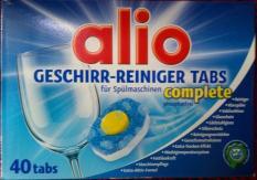 Viên rửa bát, viên rửa chén Alio Complete 40 viên (hàng Đức)