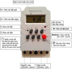 Công tắc hẹn giờ KG316 T-II, công suất 25A/220V tắt mở thiết bị theo thời gian đặt sẵn (Xám)