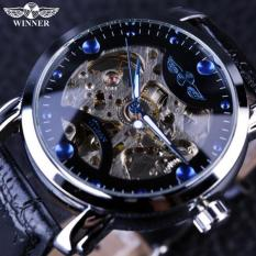 Đồng hồ cơ nam Winner H005M lộ máy (M Dây da và dây kim loại)