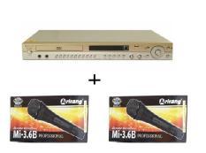 Đầu DVD Karaoke Arirang AR-36MB + 2 micro có dây Arirang 3.6B