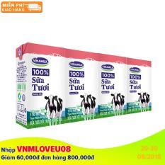 Thùng 48 Hộp Sữa tươi tiệt trùng Vinamilk 100% Hương Dâu 110ml