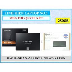 Ổ cứng SSD Samsung 860 EVO 250GB SATA III + Tặng kèm Hộp đựng (box) ổ cứng Orico 2.5″