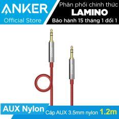 Cáp audio cao cấp ANKER 3.5mm Nylon Braided Auxiliary Audio 1.2m (Đỏ) – Hãng phân phối chính thức