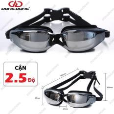 Kính bơi CẬN 2.5 độ – Tráng GƯƠNG 2588, chống UV, chống HẤP HƠI, kính thời trang cao cấp – DONGDONG