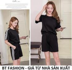 Đồ Bộ Áo Thun Nữ + Quần Đùi Sọt Thun Nữ Thể Thao, Ở Nhà, Đồ Ngủ Thời Trang Hàn Quốc Mới – BT Fashion (DBTT02A-3S)