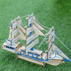 Đồ chơi lắp ráp gỗ 3D Mô hình Thuyền buồm Laser XA-G034H