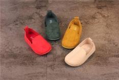 Giày lười da lộn phong cách vintage dễ thương cho bé gái