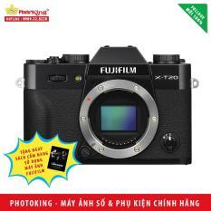Máy ảnh Fujifilm X-T20 Body (Đen) + Tặng kèm Sách Cẩm nang sử dụng máy ảnh FujiFilm – Hàng nhập khẩu