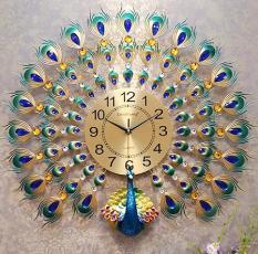Đồng hồ treo tường trang trí hình chim công MAC2868
