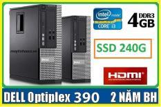 Máy tính để bàn đồng bộ Dell optiplex 390 ( Core i3 / 4G / SSD 240G ),Có HDMI , Tặng USB wifi , Dây HDMI bàn di chuột – Hàng Nhập Khẩu