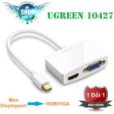 Bộ chuyển Mini Displayport to VGA/HDMI Adapter Ugreen (Trắng)