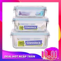 Bộ 3 hộp thủy tinh Glasslock GL1044