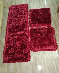 Set thảm trải ghế vân hoa nổi