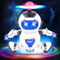 Đồ chơi Robot nhảy theo nhạc có đèn xoay 360o Yearoo No 11006 xanh