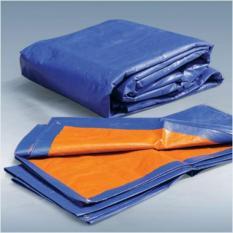 Tấm bạt che PE170 màu xanh – cam kích thước 3x4m đa dụng