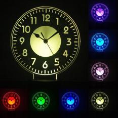 Đèn ngủ LED 3D – Có Remote điều khiển từ xa – Đồng Hồ Số La Tinh